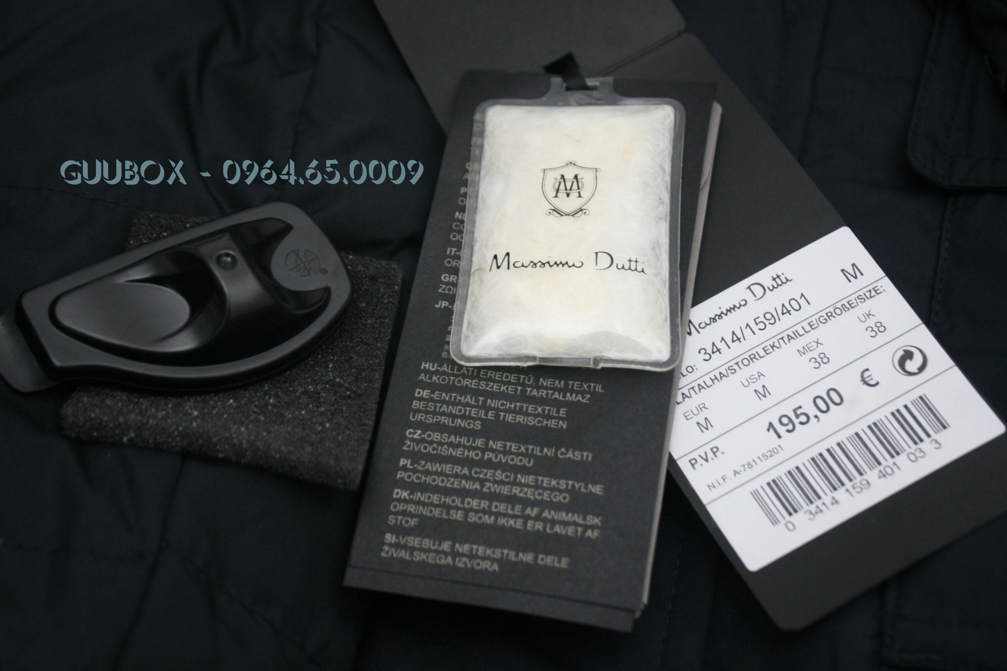 5 Áo khoác lông vũ Massimo Dutti chính hãng , xuất xịn