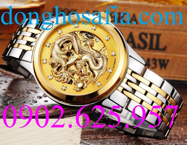 13 Đồng hồ nam cơ Aesop 9010 AS001