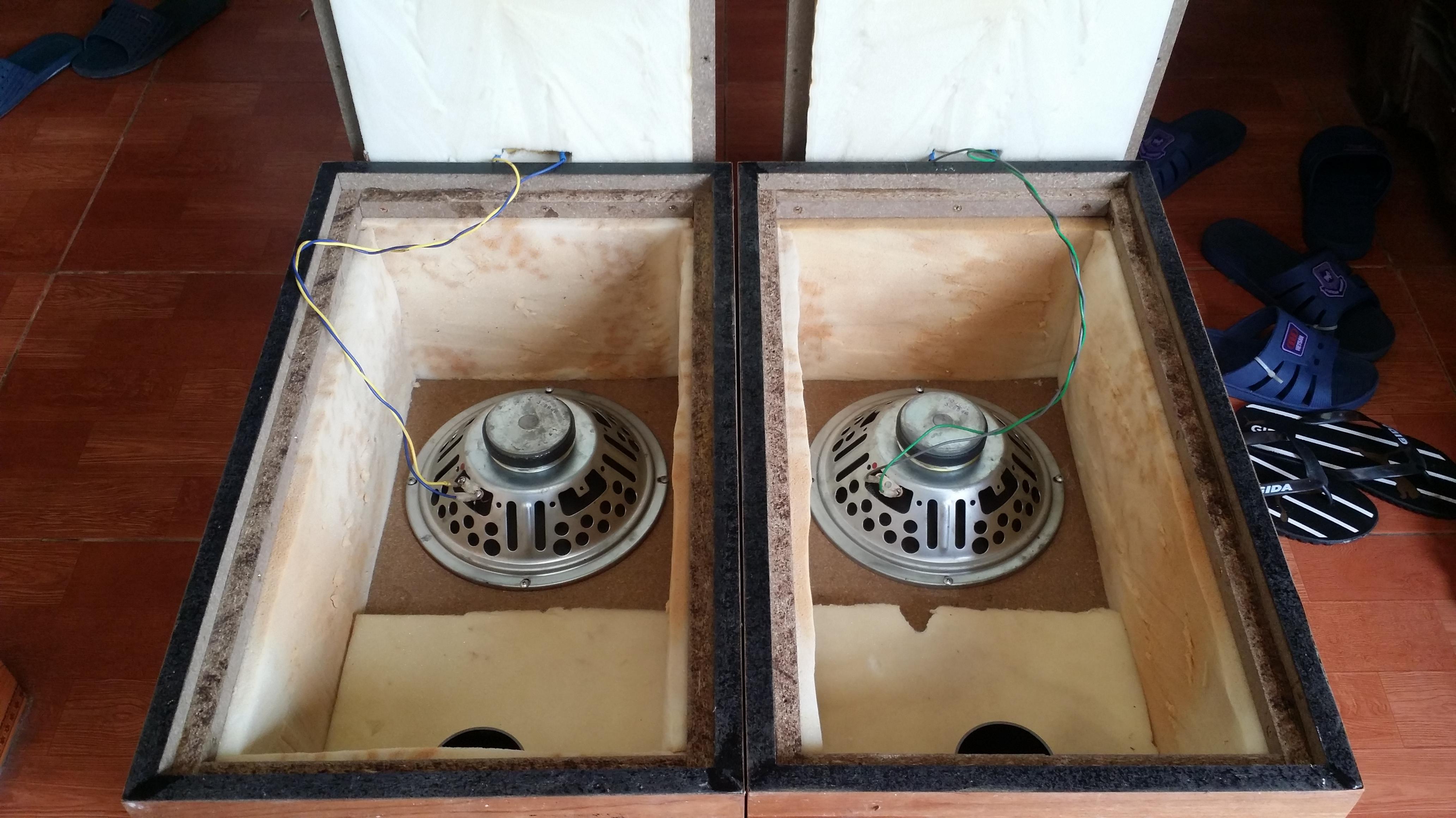 4 Loa toàn dải bass 25cm ampli magnavox streo 500 của hãng Philips giá 9tr