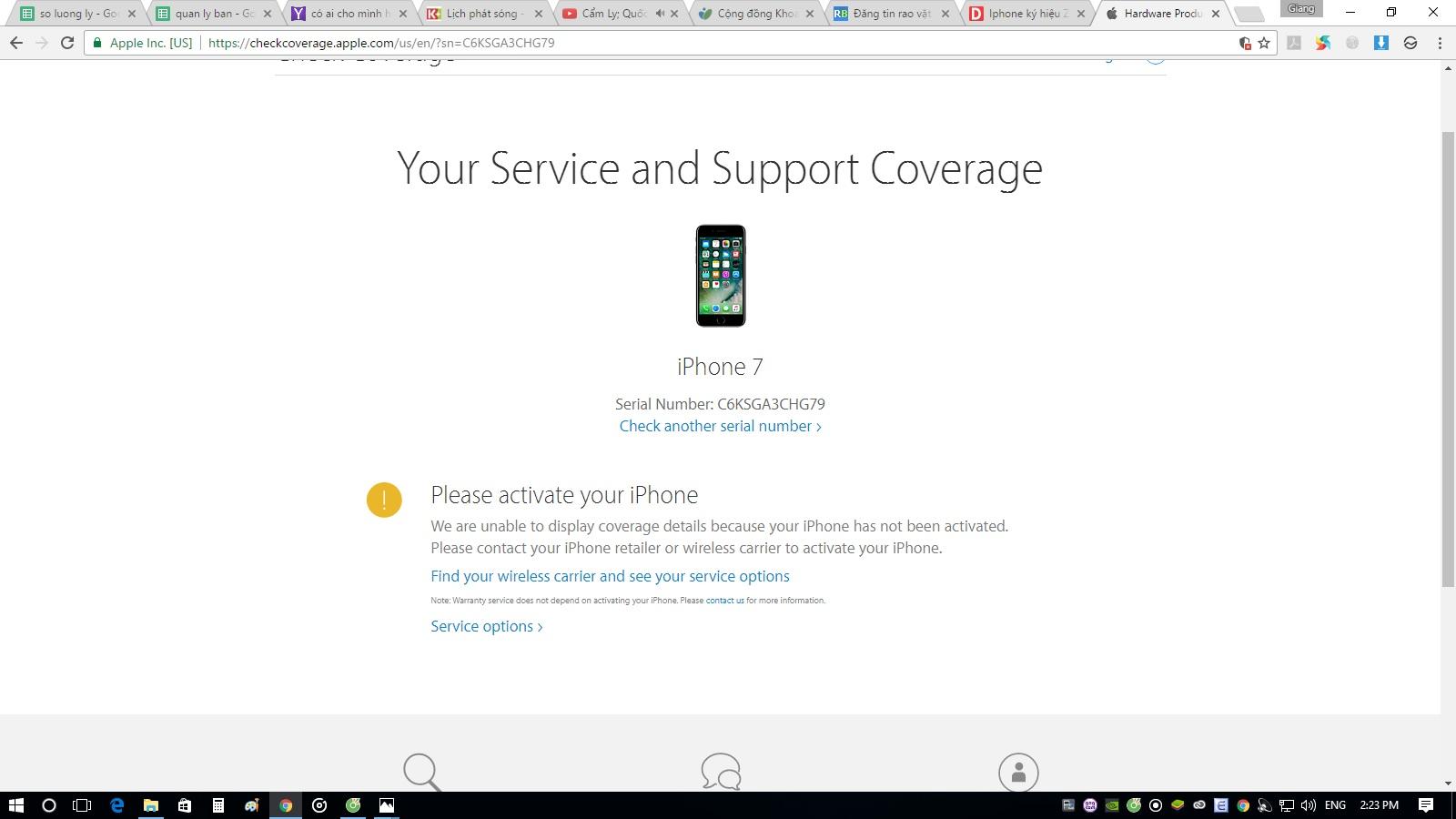 Cần bán 1 chiếc iphone 7 rose gold 256GB bản quốc tế giá rẻ