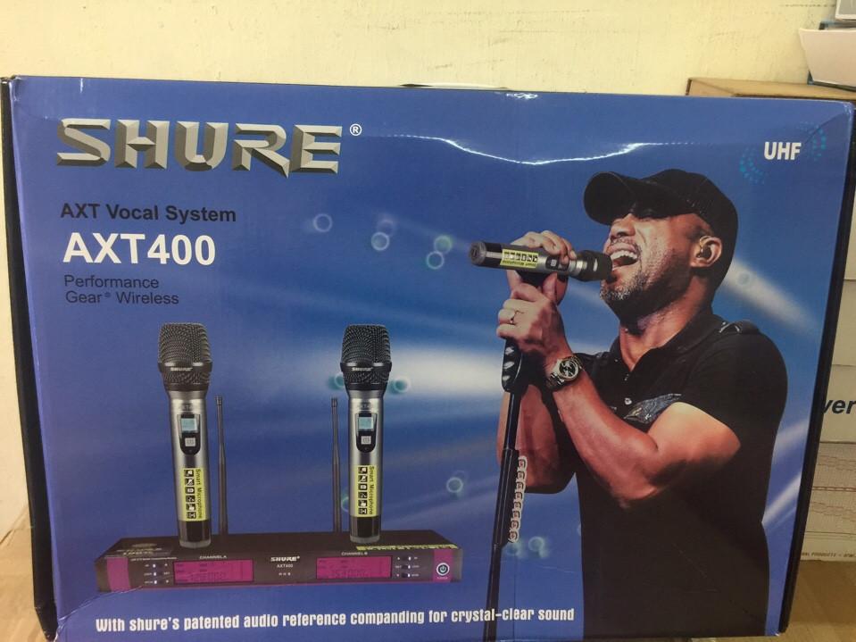 1 Micro shure axt400 công nghệ usa hát tiếng tuyệt hay