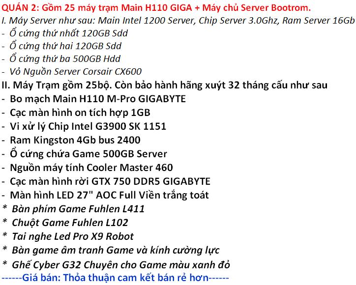 2 Chính chủ cần bán thanh ly dan game, thanh lý dàn net core i3