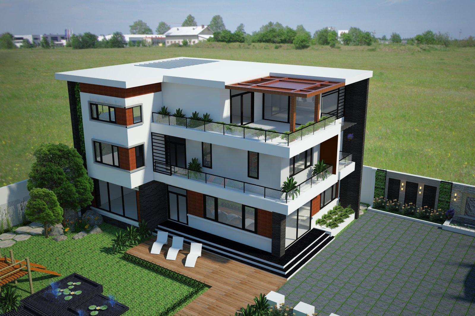 3 Thiết kế biệt thự giá rẻ tại Hà Nội, Thiết kế nhà biệt thự tại Hà Nội