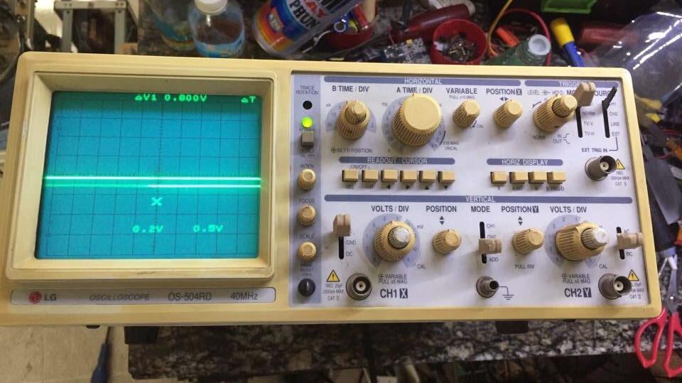 2 Oscilloscope seconhand 40mhz , 100mhz còn xử dụng tốt có bảo hành