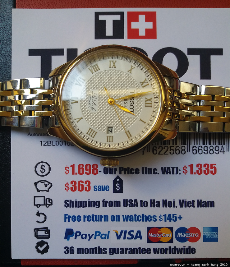 Piaget Longines Thuy Sy Rolex Malaysia new fullbox 1025USD giam gia con 285USD