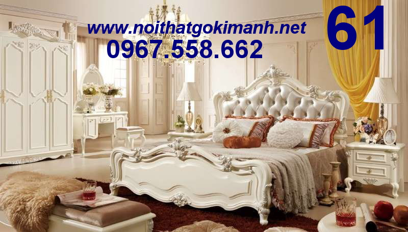 1 Bộ Giường Ngủ Cổ Điển Châu Âu - giường ngủ cổ điển quý tộc