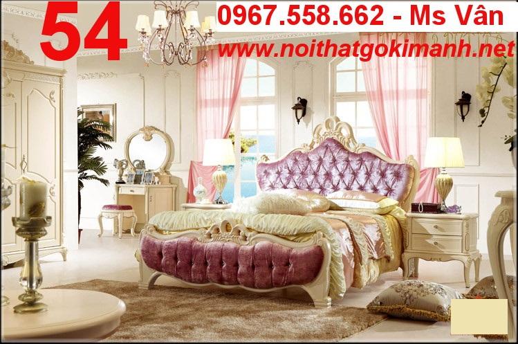 4 Bộ Giường Ngủ Cổ Điển Châu Âu - giường ngủ cổ điển quý tộc