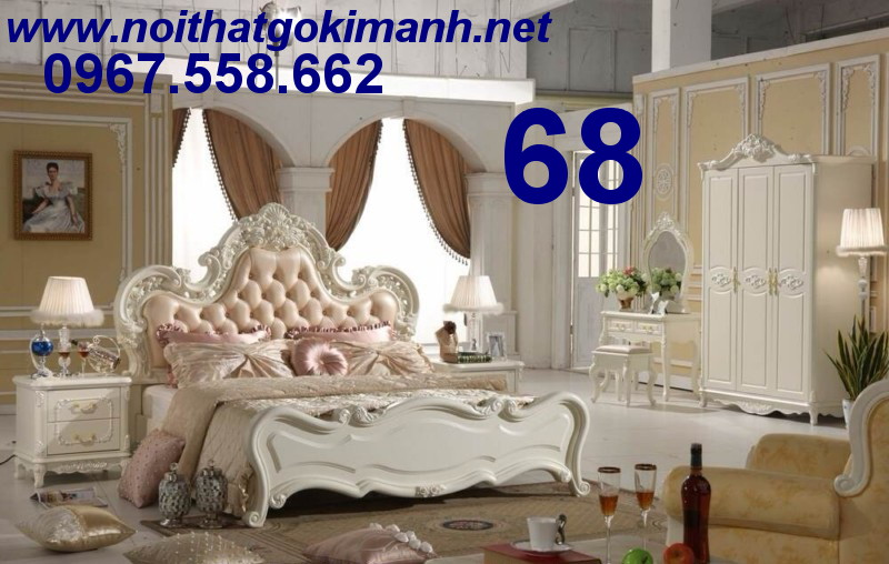 13 Bộ Giường Ngủ Cổ Điển Châu Âu - giường ngủ cổ điển quý tộc