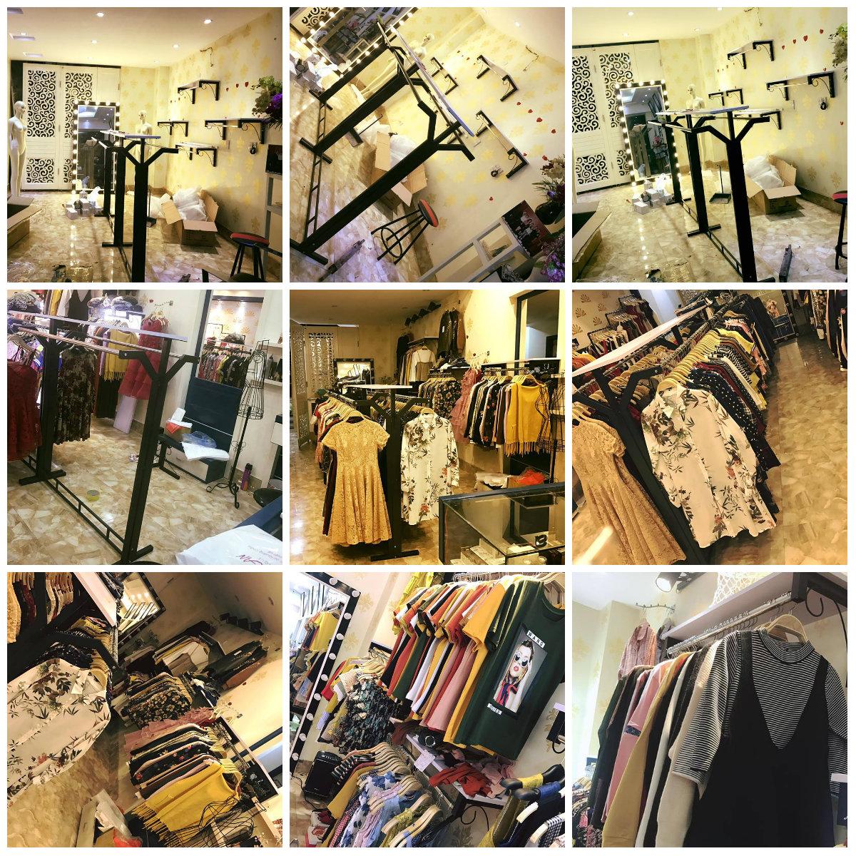 2 ĐỊA CHỈ UY TÍN: chuyên thiết kế và thi công giàn giá kệ shop thời trang giá tốt nhất