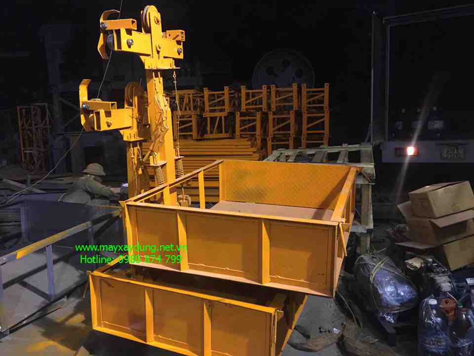 4 Máy cắt sắt, máy uốn sắt, máy trộn bê tông, vận thăng nâng hàng, tời kéo mặt đất, palang xich - hãng