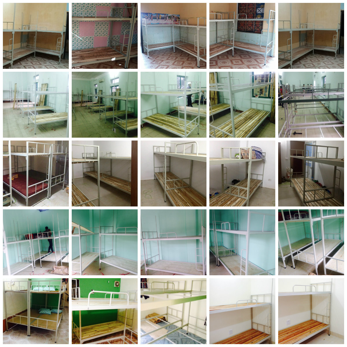 6 Chuyên sản xuất giường tầng sắt, giường tầng inox trường học,khu lưu trú,nhà ở công nhân viên giá rẻ