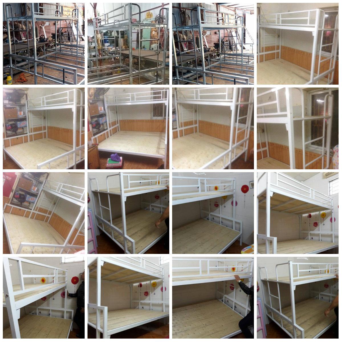16 Chuyên sản xuất giường tầng sắt, giường tầng inox trường học,khu lưu trú,nhà ở công nhân viên giá rẻ