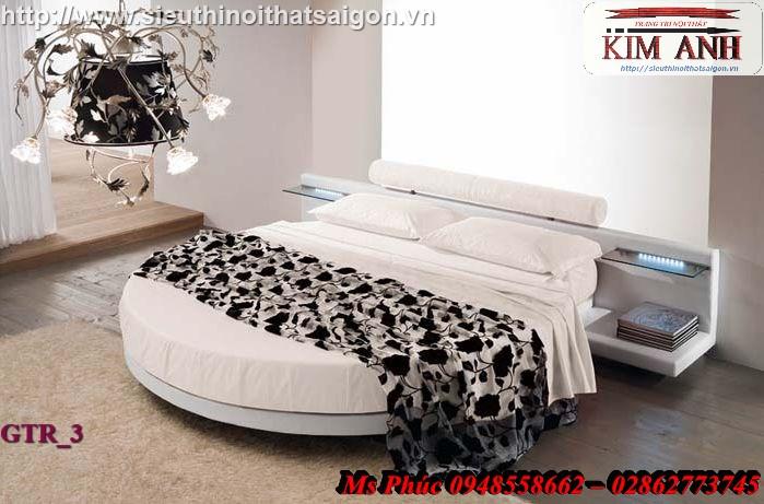 2 Giường tròn sành điệu   giường tròn giá rẻ giảm giá sốc