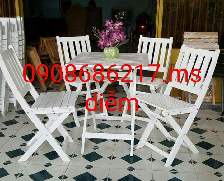 1 Bàn ghế cafe sân vườn giá rẻ