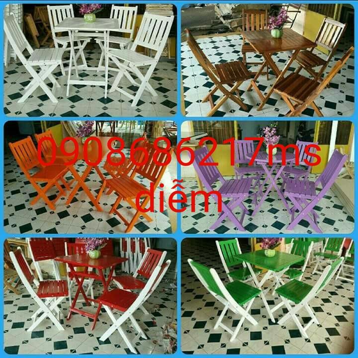3 Bàn ghế cafe sân vườn giá rẻ