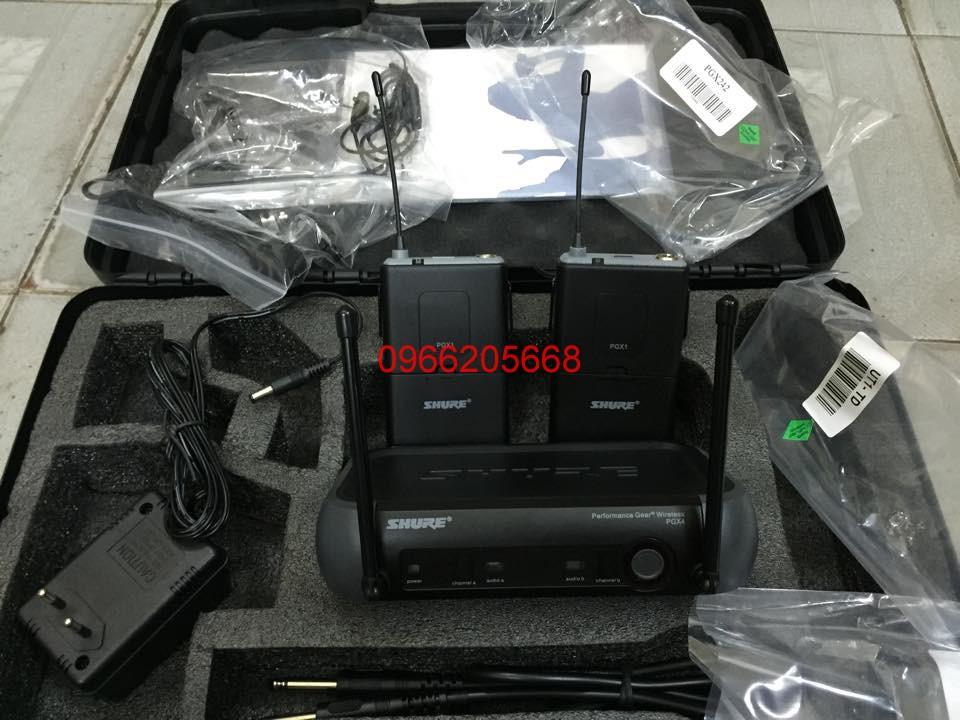 1 Micro không dây cài đầu shure pgx242 giá rẻ
