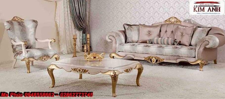 14 Sofa tân cổ điển hồ chí minh, sofa tân cổ điển nhập khẩu cao cấp