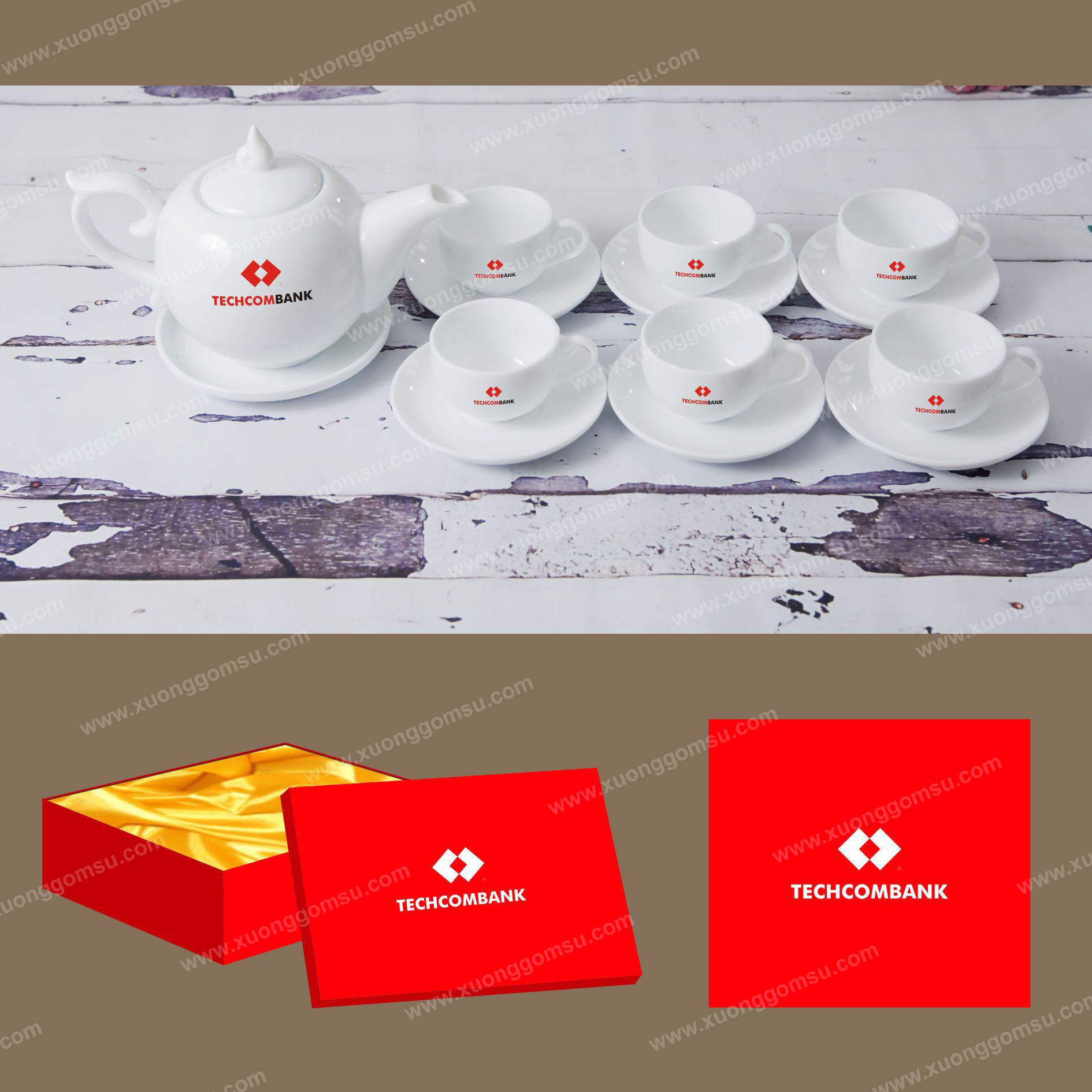 1 Bộ ấm trà giá rẻ tại Huế - In ấm trà theo yêu cầu tại Huế.