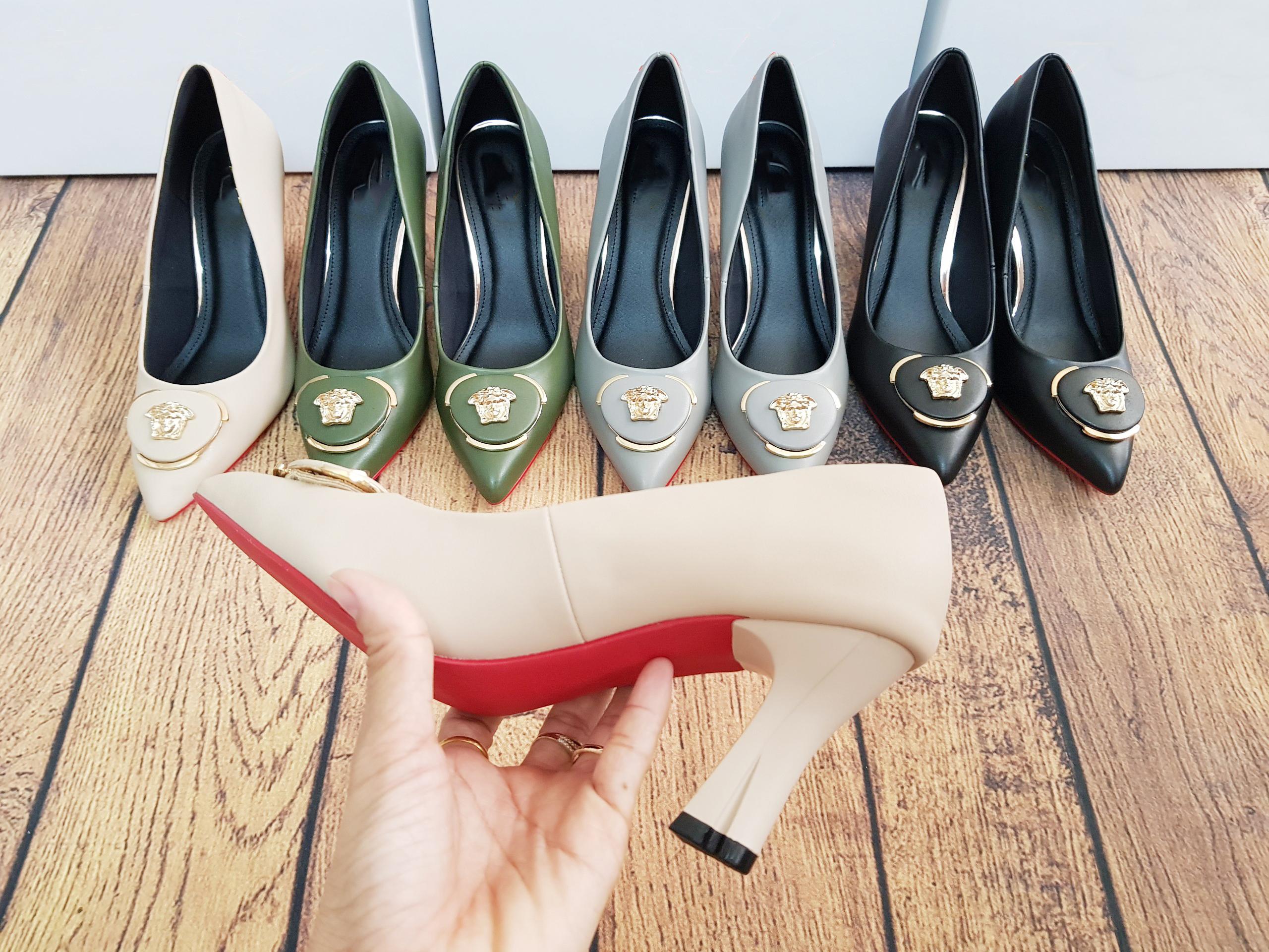 Giày cao gót 7cm Mũi nhọn