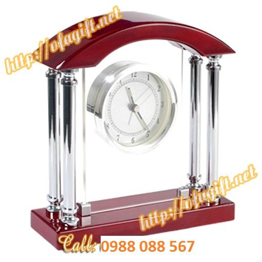 13 Nơi làm đồng hồ quà tặng đối tác,cung cấp đồng hồ để bàn,nhận làm đồng hồ đế gỗ để bàn
