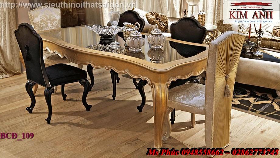 6 Xưởng bán bàn ăn tân cổ điển giá rẻ tại quận 2, q7 - Bộ bàn ăn cổ điển phong cách Châu Âu đẹp