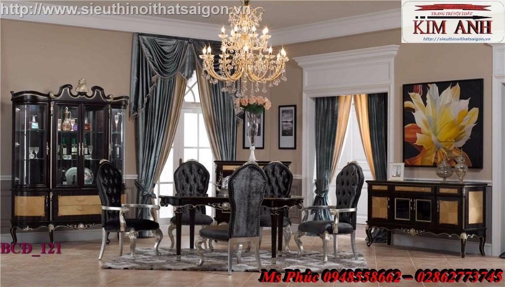 10 Xưởng bán bàn ăn tân cổ điển giá rẻ tại quận 2, q7 - Bộ bàn ăn cổ điển phong cách Châu Âu đẹp