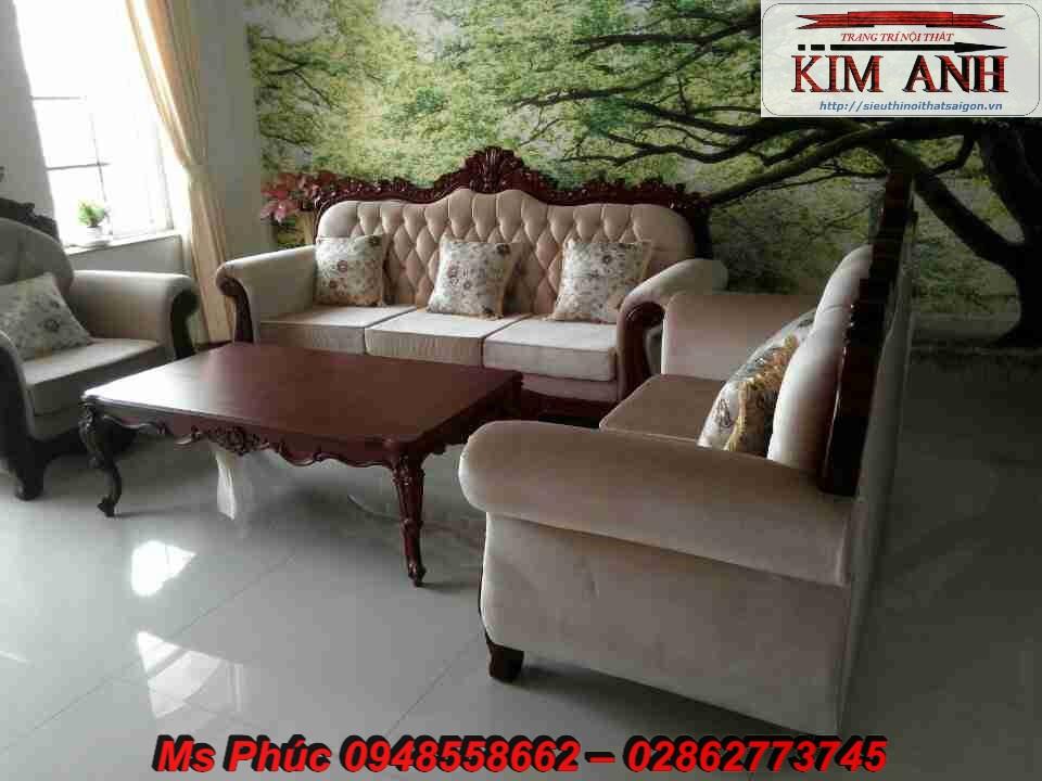 Sofa tân cổ điển giá rẻ, sofa cổ điển tphcm, giá ghế sofa đơn cổ điển Châu Âu tại Đà Lạt