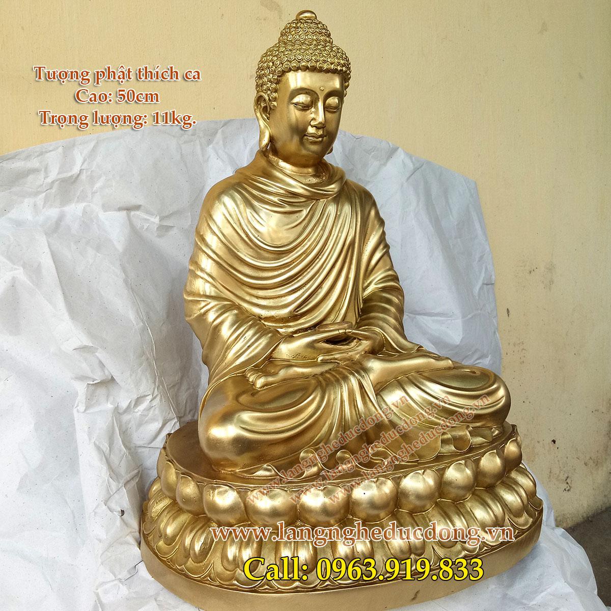 5 Tượng phật Thích Ca cao 50cm, tượng đồng thờ cúng, tượng thích ca bằng đồng vàng