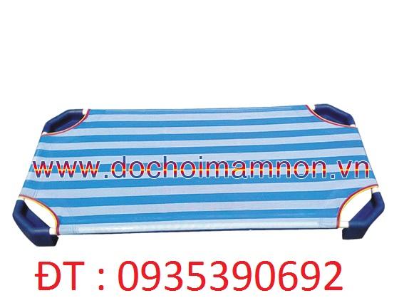 Giường ngủ mầm non giường ngủ vải nhập siêu bền
