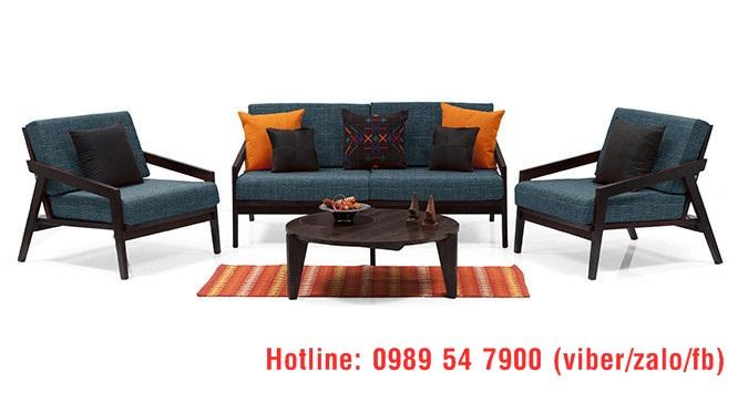 4 Sofa gỗ sồi , sofa gỗ nỉ