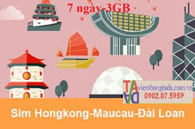 2 Sim 3G/4G du lịch Trung Quoc -Hongkong-Macao-Đài Loan