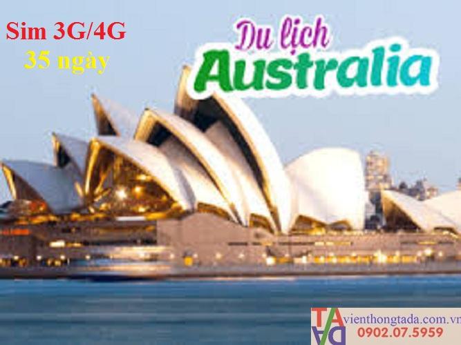 3 Sim du lịch - Sim 4G Úc Glocal - Sim nước ngoài Australia