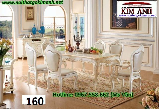 Bàn ăn tân cổ điển nhập khẩu giá rẻ   bàn ghế phong cách châu đẹp