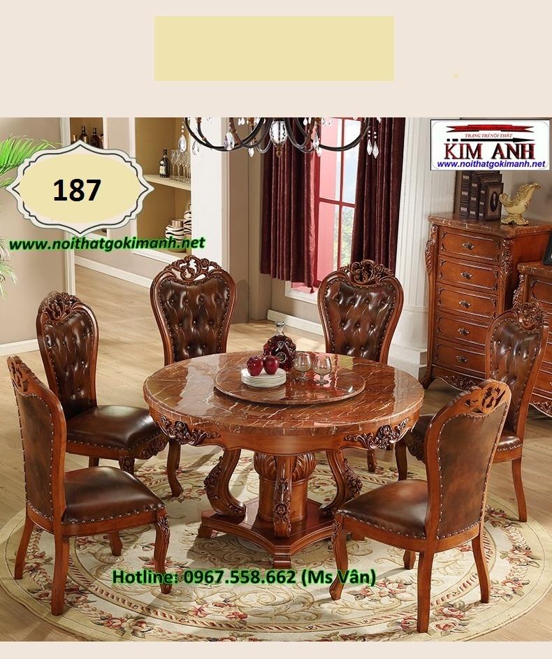 2 Bàn ăn tân cổ điển nhập khẩu giá rẻ bàn ghế phong cách châu đẹp