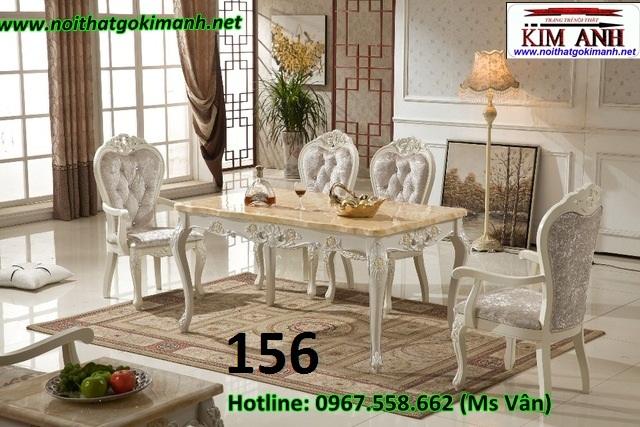 6 Bàn ăn tân cổ điển nhập khẩu giá rẻ   bàn ghế phong cách châu đẹp