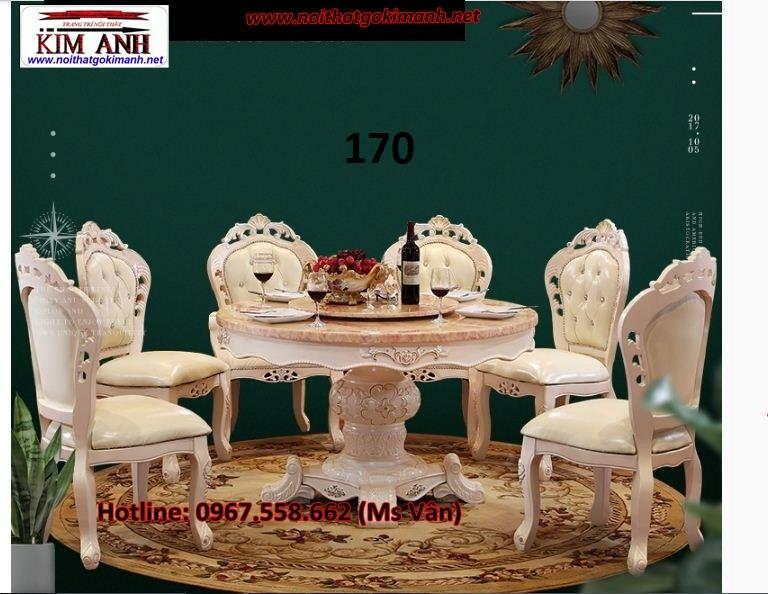 7 Bàn ăn tân cổ điển nhập khẩu giá rẻ   bàn ghế phong cách châu đẹp