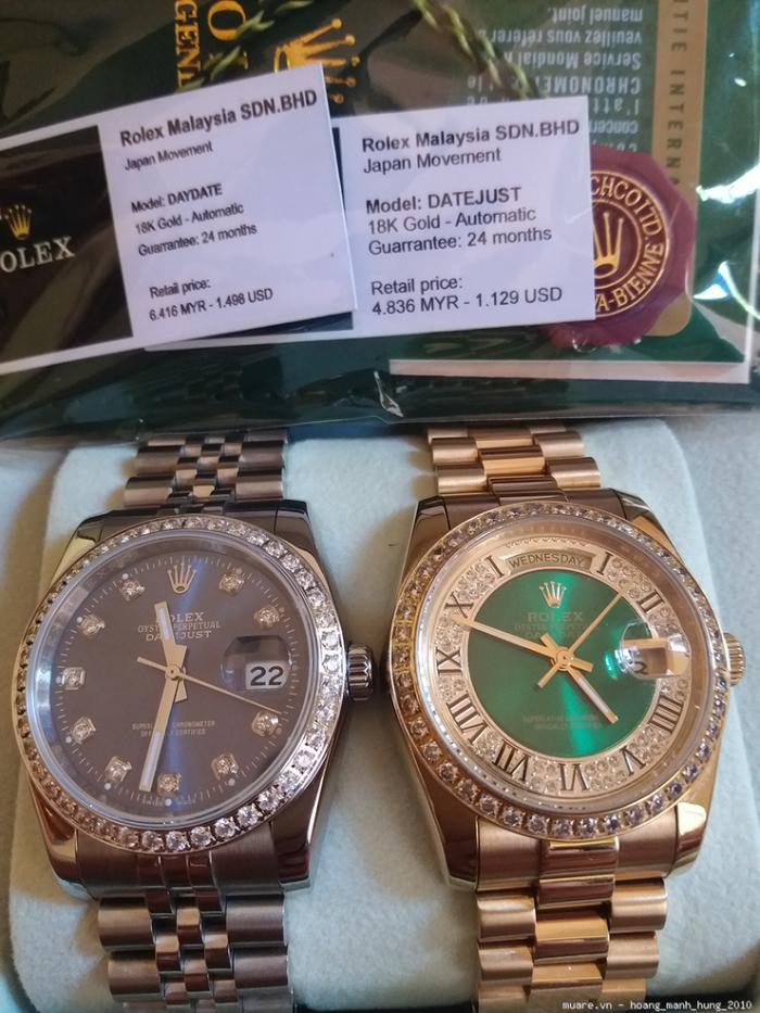 Tissot, Omega Thụy Sỹ, Rolex Malaysia 1.498USD giảm giá còn 415USD - 18