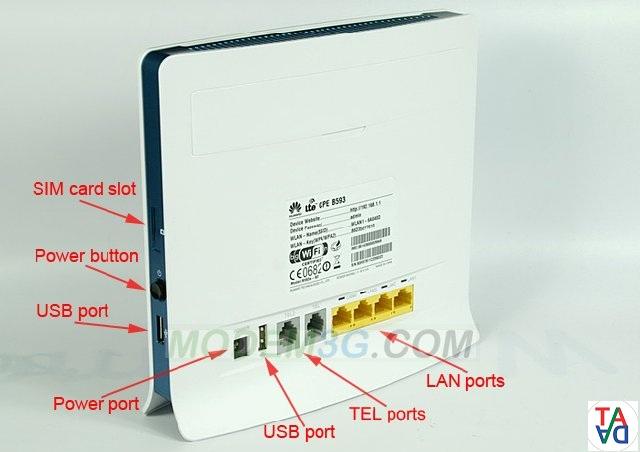 2 Bộ phát wifi 4G Huawei B593 chịu tải 32 máy đồng thời