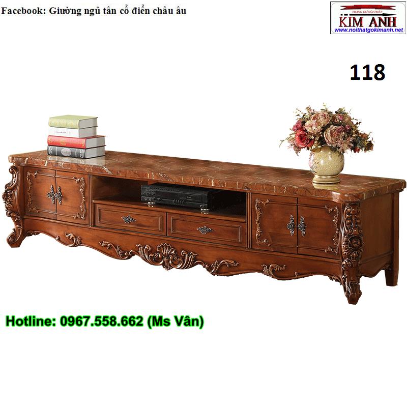 12 Kệ tivi cổ điển châu âu - xưởng làm hàng đặt tủ kệ tivi tân cổ điển đẹp sang chảnh