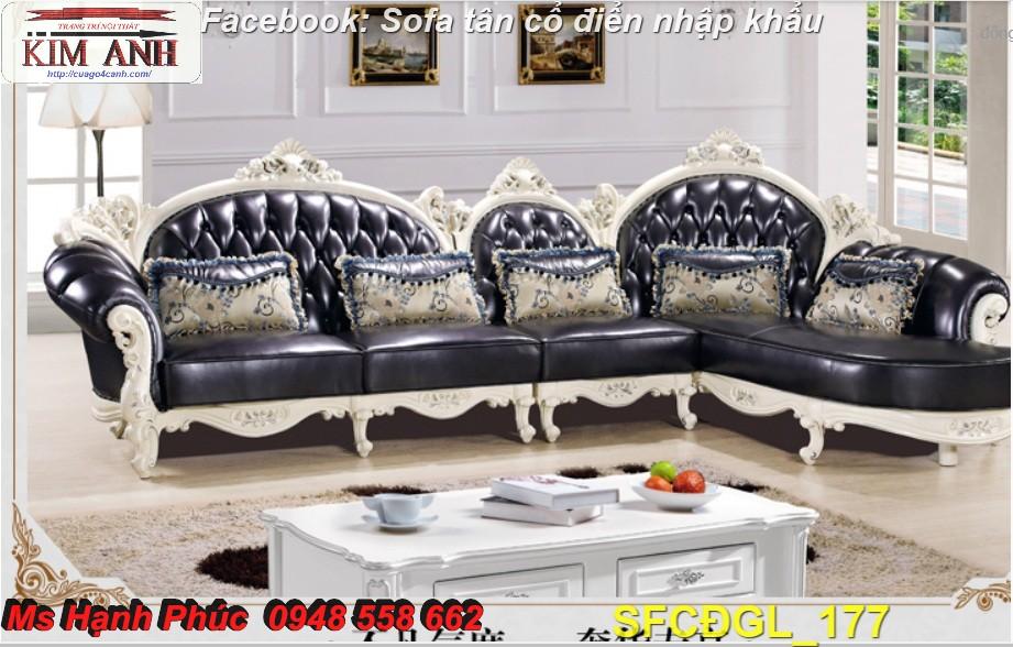 5 Sofa tân cổ điển góc chữ L đẹp, bán giá tại xưởng - Nội thất Kim Anh bảo hành 4 năm