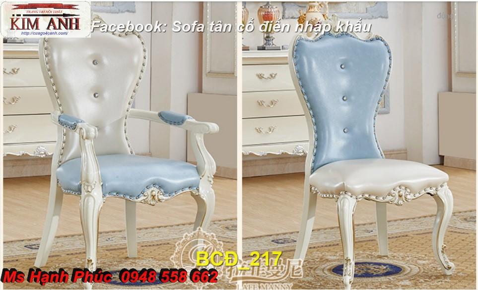 10 mẫu bàn ghế ăn tân cổ điển đẹp cho phòng ăn cao cấp, sang trọng phong cách châu âu