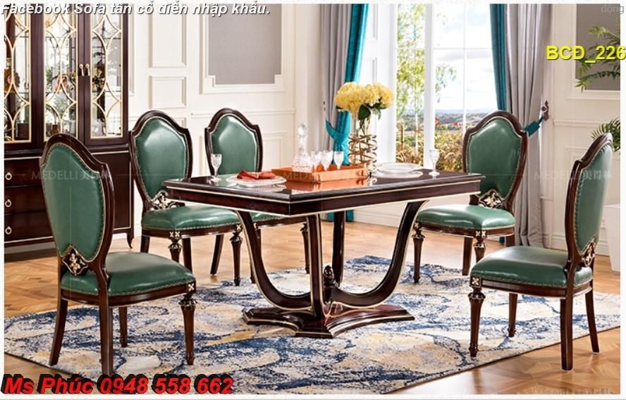 8 10 mẫu bàn ghế ăn tân cổ điển đẹp cho phòng ăn cao cấp, sang trọng phong cách châu âu