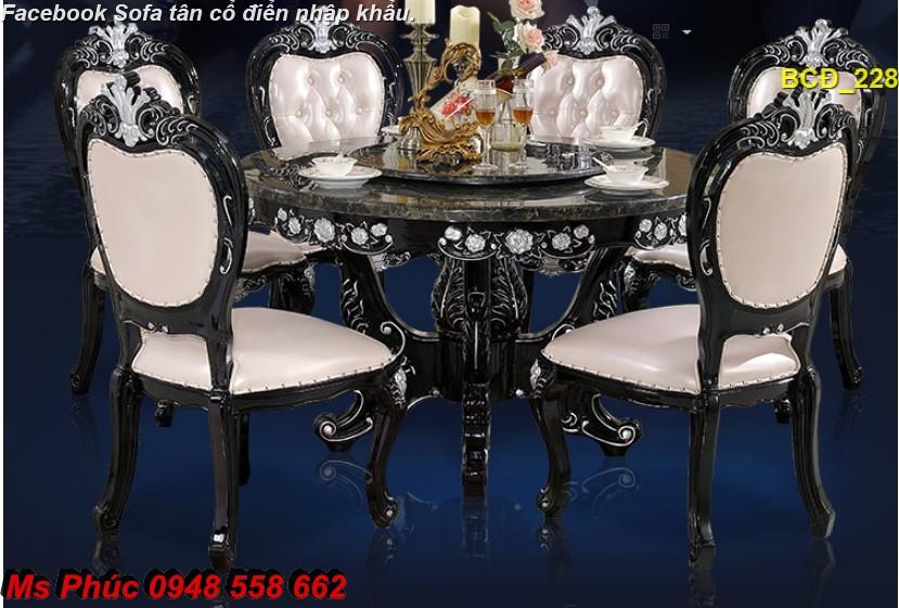 10 10 mẫu bàn ghế ăn tân cổ điển đẹp cho phòng ăn cao cấp, sang trọng phong cách châu âu