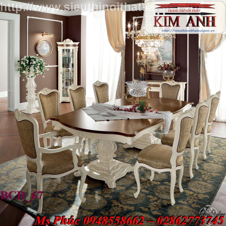 19 10 mẫu bàn ghế ăn tân cổ điển đẹp cho phòng ăn cao cấp, sang trọng phong cách châu âu