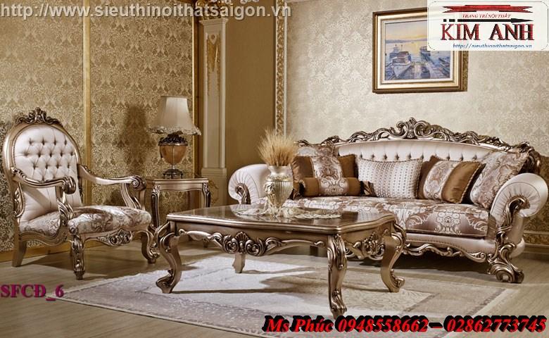 4 Bật mí cách chọn bộ sofa phòng khách tân cổ điển cao cấp, chất lượng - Nội thất Kim Anh