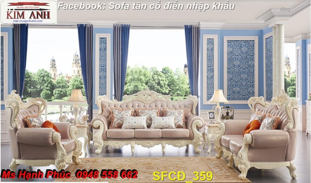 13 Bật mí cách chọn bộ sofa phòng khách tân cổ điển cao cấp, chất lượng - Nội thất Kim Anh