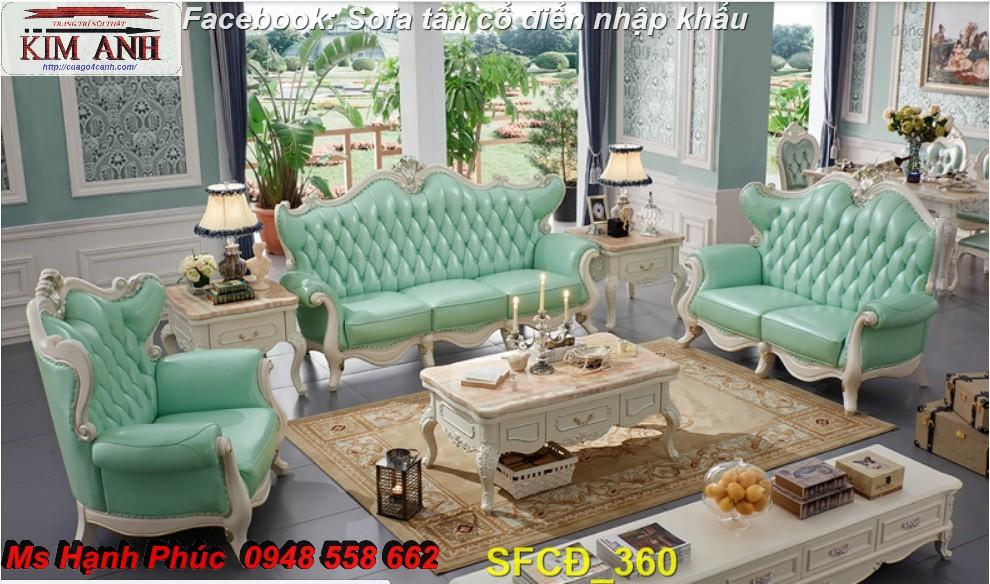 14 Bật mí cách chọn bộ sofa phòng khách tân cổ điển cao cấp, chất lượng - Nội thất Kim Anh