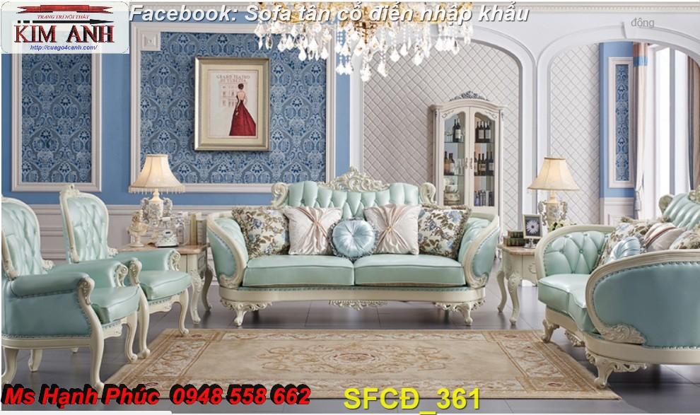 15 Bật mí cách chọn bộ sofa phòng khách tân cổ điển cao cấp, chất lượng - Nội thất Kim Anh