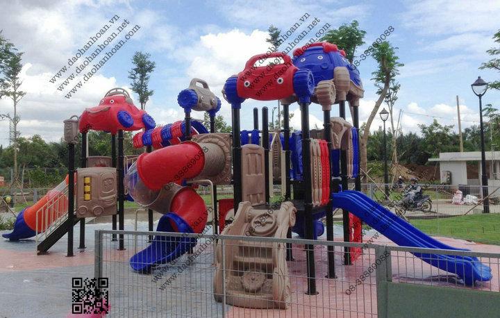 11 Đồ chơi ngoài trời, khu vui chơi trẻ em, nhà banh, xe chòi chân...