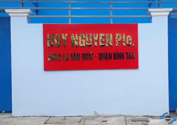 3 Làm bảng hiệu Alu công ty Huy Nguyễn